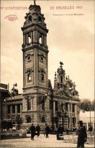 Ak Bruxelles Brüssel, Exposition 1910, Weltausstellung, Palais de la Ville de Bruxelles