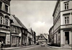 Ak Havelberg in Sachsen Anhalt, Blick in die Scabellstraße vom Karl Marx Platz, Geschäfte