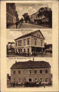 Ak Kotzschbar Imnitz Zwenkau in Sachsen, Kolonialwaren von Otto Böhlitz, Gasthof Bergschlösschen