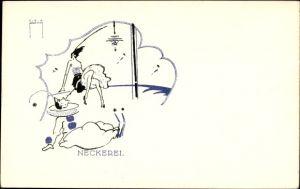 Künstler Ak Pernitsch, Leo, Neckerei, Pierrot, LP 105, Nr. 1
