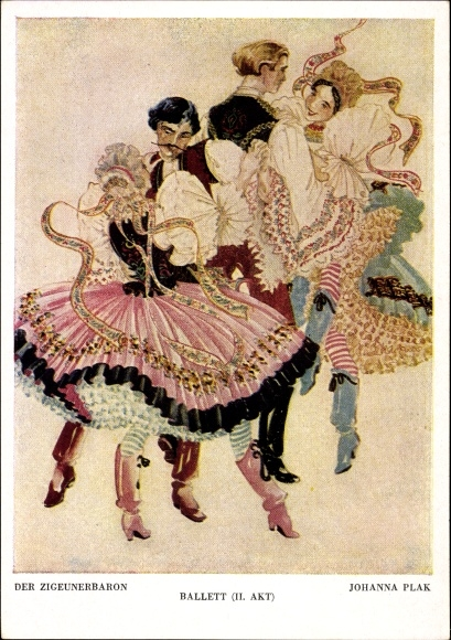 Künstler Ak Plak, Johanna, Der Zigeunerbaron, Ballett, II. Akt