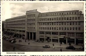 Ak Gelsenkirchen im Ruhrgebiet, Blick auf das Gebäude der Sparkasse