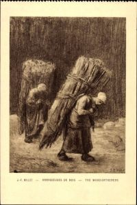 Künstler Ak Millet, J. F., Ramasseuses de Bois, The Wood Gatherers, Holzsammler