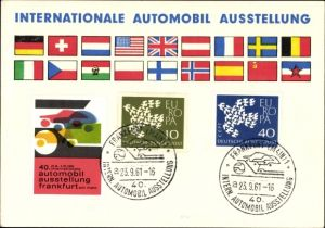 Ak Frankfurt Main, 40. Internationale Automobil Ausstellung September 1961