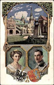 Künstler Ak Wagner, Richard, Herzog Ernst August von Braunschweig, Viktoria Luise, Einzug