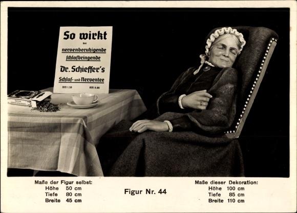 Ak Reklame, Dr. Schieffers Schlaf- und Nerventee, Schaufensterpuppe