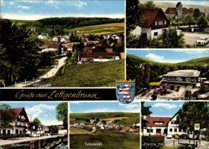 Ak Lettgenbrunn Jossgrund, Znaimer Hof, Teilansicht, Konzerthall Bad Orb, Sudetenhof