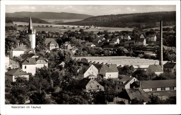 Ak Nastätten im Rhein Lahn Kreis, Blick auf Ortschaft über den Häuserdächern