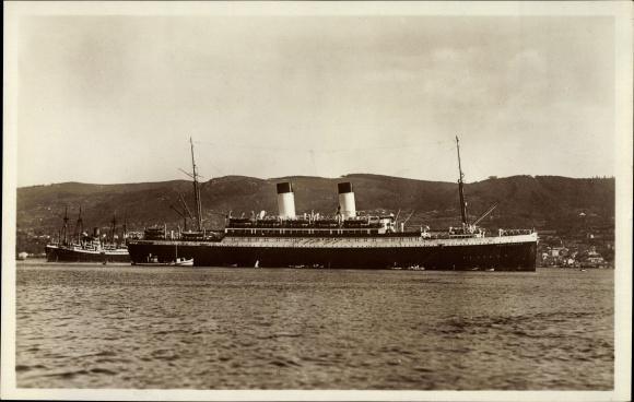Ak Dampfschiff MS Monte Sarmiento, HSDG, Dampfschiff in Küstenfahrt