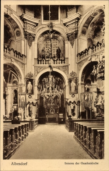 Ak Wambierzyce Albendorf Schlesien, Inneres der Gnadenkirche