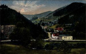 Ak Sokołowsko Görbersdorf Schlesien, Blitzengrund