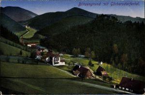 Ak Sokołowsko Görbersdorf Schlesien, Blitzengrund, Görbersdorfer Tal