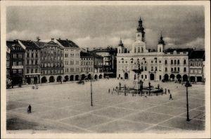 Ak Budweis České Budějovice Südböhmen Tschechien, Marktplatz, Namesti