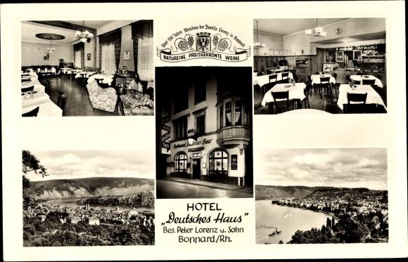 Ak Boppard im Rhein Hunsrück Kreis, Hotel Deutsches Haus, Inh. P. Lorenz und F. A. Lorenz