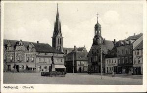 Ak Wilsdruff in Sachsen, Marktplatz, Schänke Alte Post, Denkmal, Kirche, Geschäfte