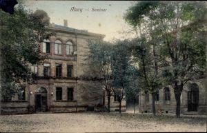 Ak Alzey in Rheinhessen, Blick auf das Seminar, Frontansicht