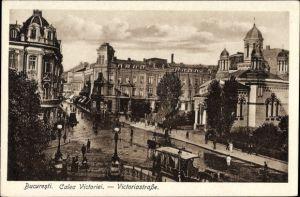 Ak București Bukarest Rumänien, Calea Victoriei, Victoriastraße