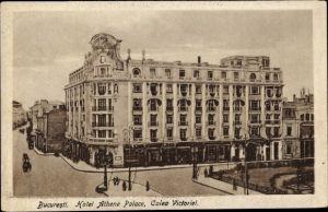 Ak București Bukarest Rumänien, Hotel Athene Palace, Calea Victoriei