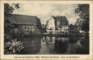 Ak Zöbigker Markkleeberg in Sachsen, Waldcafe zur Mühle