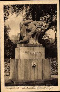 Ak Frankfurt am Main, Den Opfern, Kriegerdenkmal