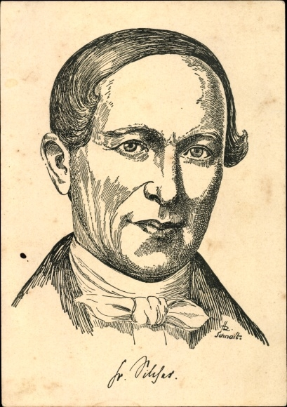 Künstler Ak Friedrich Silcher, Altmeister des deutschen Volksliedes, Portrait