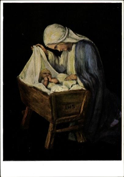 Künstler Ak Spötl, Maria, Maria du beste Mutter, Jesuskind