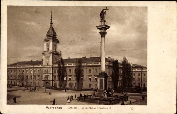 Ak Warszawa Warschau Polen, Schloss, Generalgouvernement