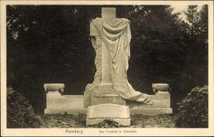 Ak Hamburg Nord Ohlsdorf, Friedhof, Partie im Friedhof, Schöpfung von Hans Dammann