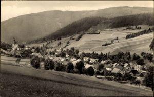 Ak Döschnitz an der Schwarza in Thüringen, Blick auf Ortschaft und Umgebung