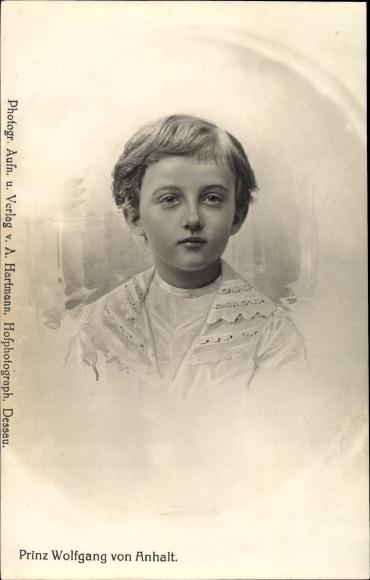 Künstler Ak Prinz Wolfgang von Anhalt, Portrait