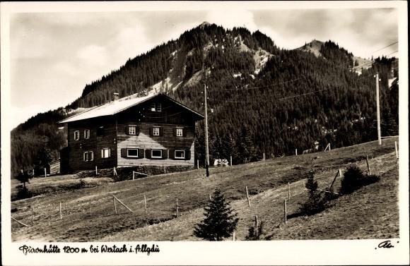 Ak Wertach In Bayern Blick Auf Buronhutte Mit Alpspitze Und