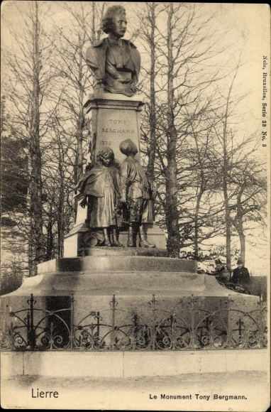 Ak Lierre Flandern Antwerpen, Le Monument Tony Bergmann, Fr. Joris