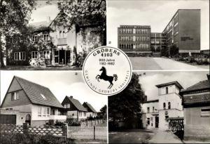 Ak Gröbers Kabelsketal Sachsen Anhalt, Kulturhaus, Oberschule Lenin, Bahnhof