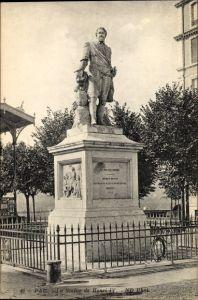 Ak Pau Pyrénées Atlantiques, La Statue de Henri IV,  N.B. Raggi