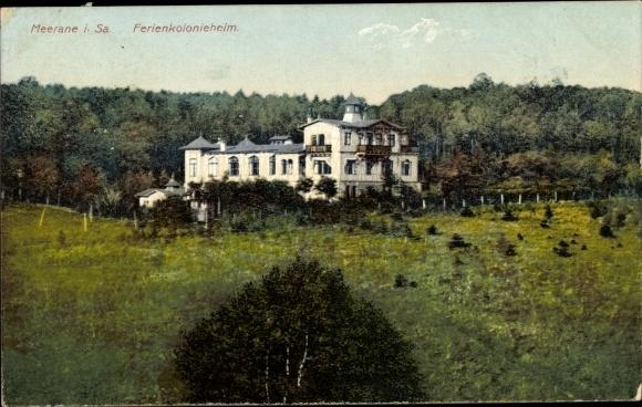 Ak Meerane in Sachsen, Blick auf das Ferienkolonienheim