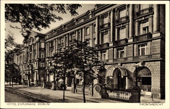 Ak Berlin Tiergarten, Hotel Esplanade, Frontansicht, Bellevuestraße 16 bis 18a