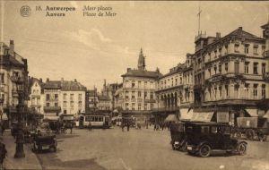 Ak Antwerpen Anvers Flandern, Meir plaats, Place de Meir, Platz