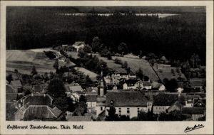 Ak Finsterbergen Friedrichroda Thüringen, Blick von der Kurhausterrasse
