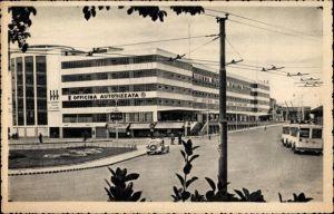 Ak Venezia Veneto, Piazzale Roma, Autogarage, E Bus, Officina Autorizzata, Oberleitungsbus