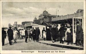 Ak Scheveningen Den Haag Südholland, Bedrijvigheid aan het Strand
