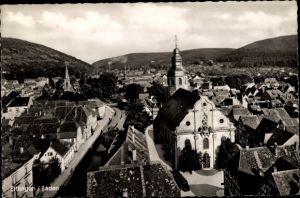 Ak Ettlingen in Baden, Blick zur St. Martinskirche und zum Albtal