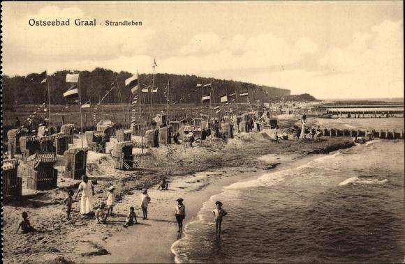 Ak Graal Müritz im Kreis Rostock, Strandleben, Strandkörbe