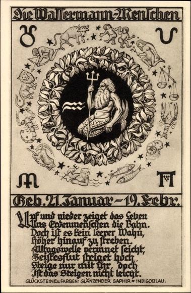 21 Januar Sternzeichen ak sternzeichen wassermann, aquarius, 21. januar bis 18. februar nr