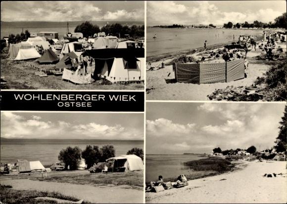 Ak Wohlenberg Klütz Mecklenburg Vorpommern, Wohlenberger Wiek, Ostseestrand, Zelte