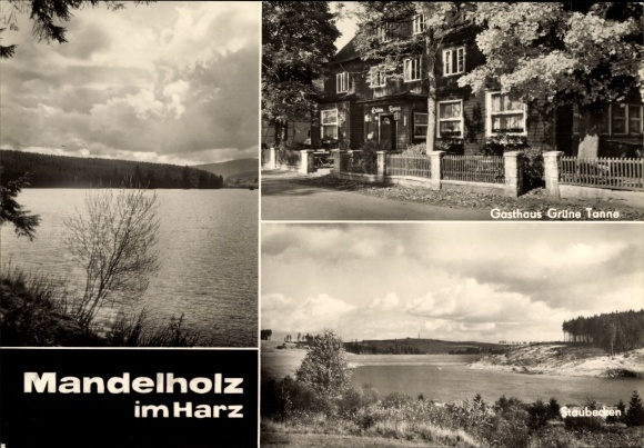Ak Mandelholz Oberharz am Brocken, Gasthaus Grüne Tanne, Staubecken