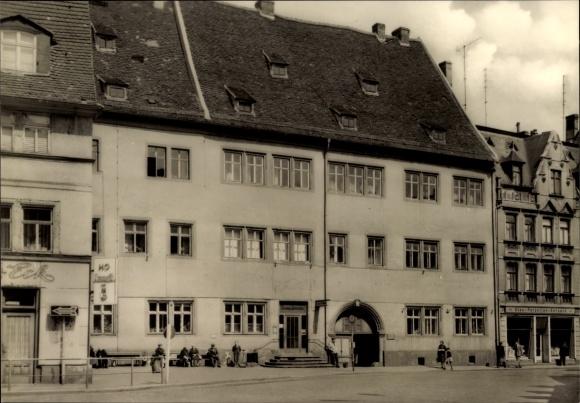 Ak Lutherstadt Eisleben in Sachsen Anhalt, Mohren Apotheke, Geschäft Glas, Porzellan, Keramik