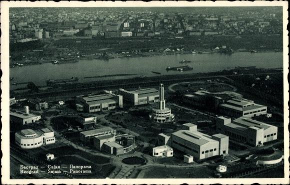 Ak Belgrad Beograd Serbien, Sajam, Panorama, Ausstellungsgelände