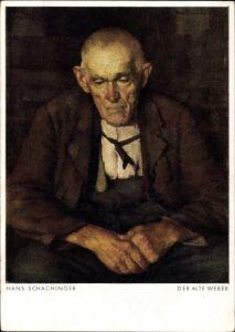 Künstler Ak Schachinger, Hans, De Alte Weber, Portrait