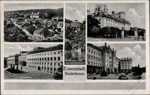 Ak Eisenstadt Niederdonau Burgenland, Landhaus, Schloss, Kaserne, Leopoldinentempel