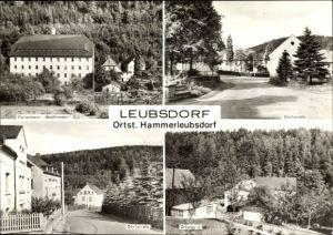 Ak Hammerleubsdorf Leubsdorf im Kreis Mittelsachsen, Ferienheim Waldfrieden, Dorfstraße